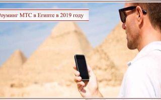Роуминг МТС в Египте в 2020 году – обзор тарифов, интернета и опций