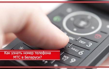 Как узнать свой номер телефона МТС Беларусь