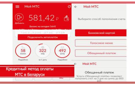 Кредитный метод оплаты МТС в Беларуси: как подключить и отключить услугу