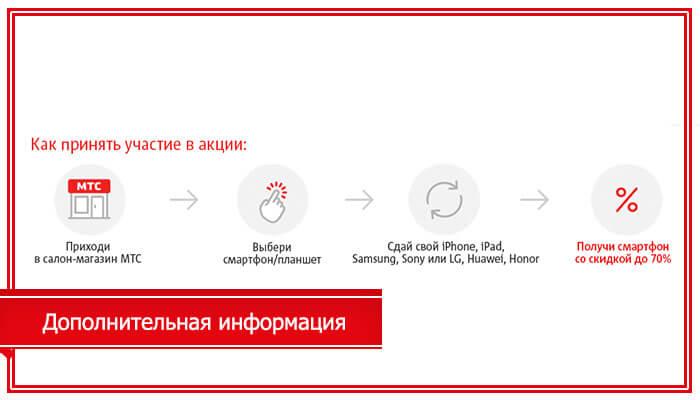 обмен смартфона на новый в мтс